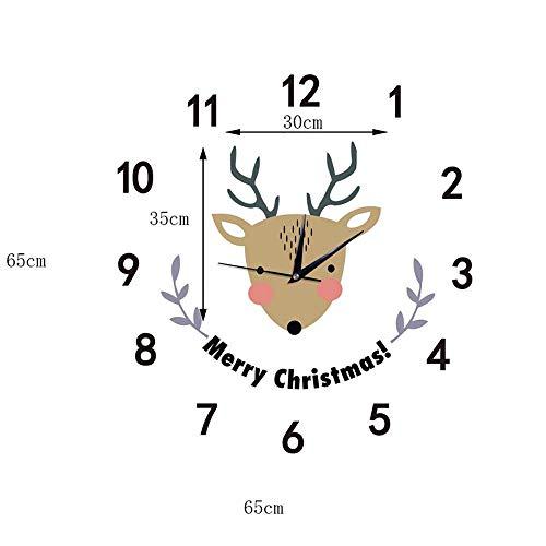 GZMEI 3D Three-Dimensional Elk Wall Sticker Wall Clock Decoration Bedroom Children's Room Living Room - Elk Cuckoo Clock