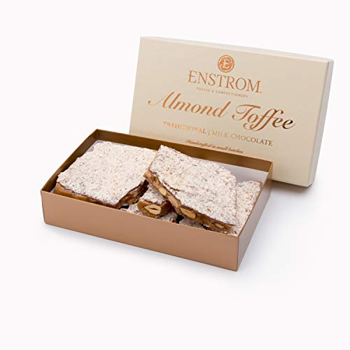 ALMOND TOFFEE - 1lb. MILK CHOCOLATE (Milk Box Chocolate Almond)