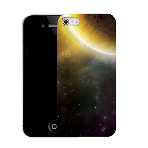 Mobile Case Mate IPhone 5 clip on Silicone Coque couverture case cover Pare-chocs + STYLET - MOON STARS pattern (SILICON)