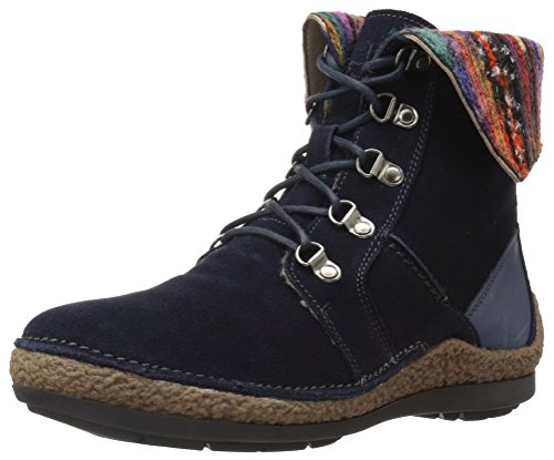 Propet Women's Dayna Ankle Bootie, Navy, 8 M US