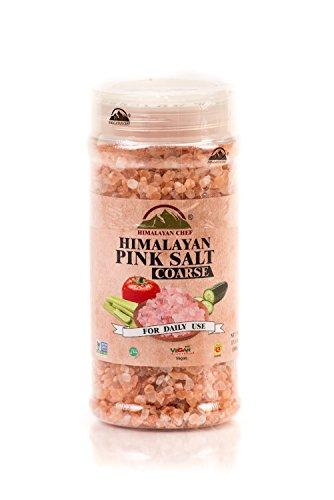 Himalayan Chef Coarse Grain Himalayan Pink Salt Jar, 17.5 Ounce (Pack of 6), Incredible Taste - Gluten Free, Non GMO by Himalayan Chef