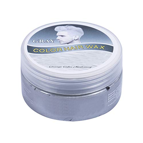 (Colored Mud Dye Hair Mud Wax Dye Cream for Halloween Party Thanksgiving Nightclub (100ML, Silver)