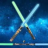 FUN LITTLE TOYS LED Light Saber Laser Sword FX Light Saber Fighters Galaxy Warriors, 2 in 1 Light Sound Effect