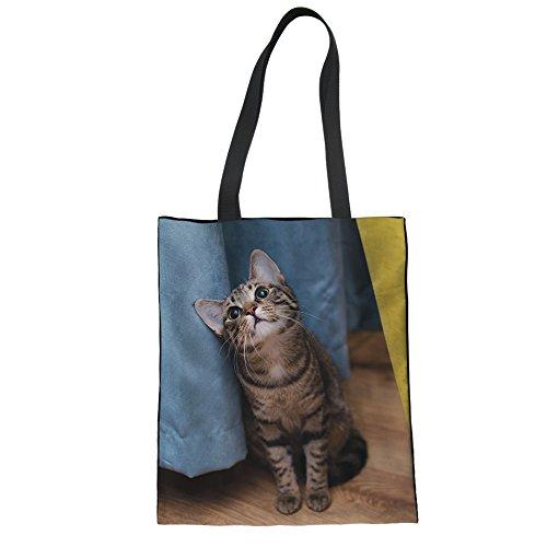 Showudesigns CC3006Z22 - Bolso de asas para mujer Negro Negro Talla Unica gato