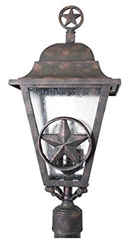 Melissa Lighting Outdoor Post Lantern LS1790 Western from Lone Star Series Collection in (Lone Star Porch Light)
