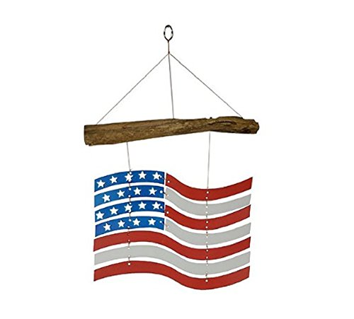 MyEasyShopping US Flag Mobile Light Catcher White Blue Red -