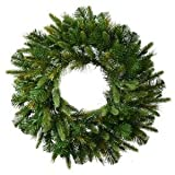 Vickerman Cashmere Pine Wreath-Unlit, 24-Inch, Green