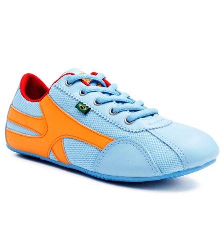 Zapatos Inspirados En La Danza De Rio Sole Para Mujer - Azul Claro Y Naranja