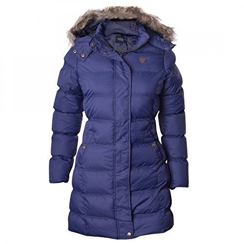 Brave Winter Fur Trimmed Blue Puffer Padded Long Parka Jacket Hooded Womens Soul Coat gRCqgw