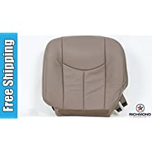 2003-2007 GMC Sierra 2500HD 2500 HD SLT SLE Driver Side Bottom Replacement Leather Seat Cover, Tan