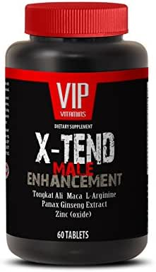 Male Enchantment Pills Increase Size - X-TEND Male Enhancement with Tongkat Ali, Maca, L-Arginine, Muira Puama, Tribulus, Panas Ginseng - 1 Bottle 60 Tablets