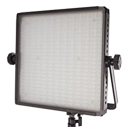 StudioPRO Two S-600DN Dimmable 600 Photography LED Lighting Panel with Barndoors and Light Stand Kit, 5600K Continuous Daylight, Photo Studio Video Film Production Lighting Kit (Set of 2)