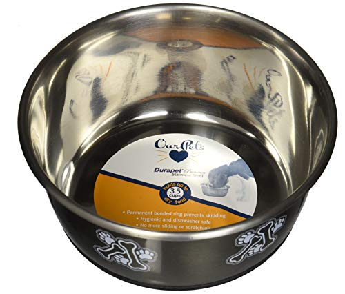 OurPets Premium Durapet Gunmetal Dog Bowl Medium
