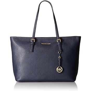 4ac3bbcc5c439 Michael Kors Jet Set Travel Ladies Medium Leather Tote Handbag 30T5GTVT2L414