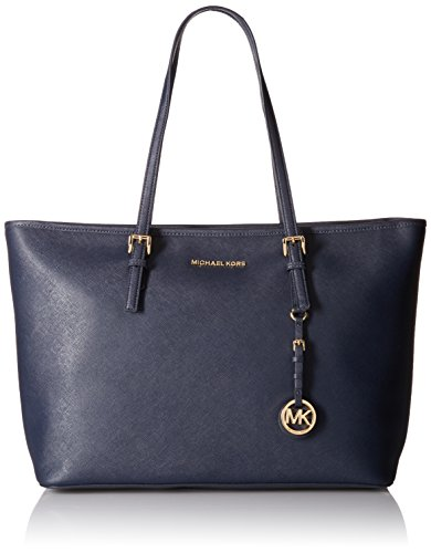 MICHAEL Michael Kors Jet Set Travel Medium Top Zip Mult Funt Tote, Black