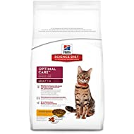 Hill's Science Diet Adult Cat Food, Optimal Care Chicken Recipe Dry Cat Food, 16 lb Bag