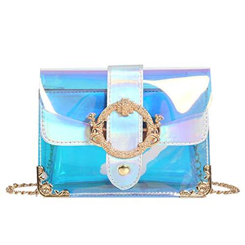 NRUTUP Women Fashion Colorful Portable Jelly Bag Shoulder Bag Diagonal Package Hot Sales ()