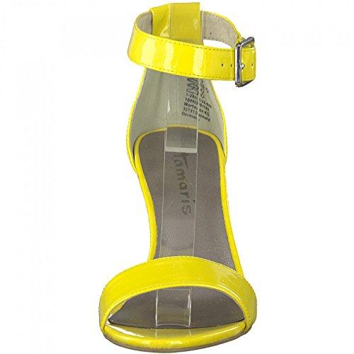 Tamaris 28018, Sandalia con Pulsera para Mujer Amarillo (Yellow Patent)
