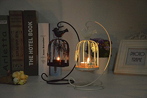 Ys Butterfly Iron Birdcage Candlestick Creative Crafts Boutique Vintage Wedding Lantern Ornaments Creative Home Decoration Pastoral Aroma Lamps (Butterfly 2 Set) -