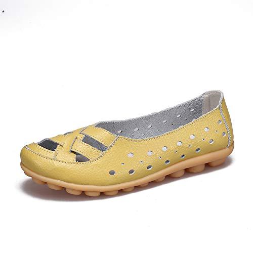 - Milk Maniac Ballet Flats Women Shoes Soft Bottom Hollow Out Shoes Slip Women Shoes Flats,Light Green,10.5