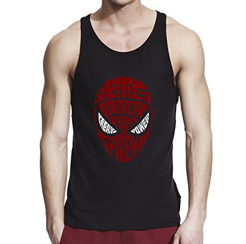 spider-man+tank+tops Products : Inspired by Spiderman Mask, Men Black/Navy Blue 100% Softstyle Cotton Tank Top S-2XL, d1342