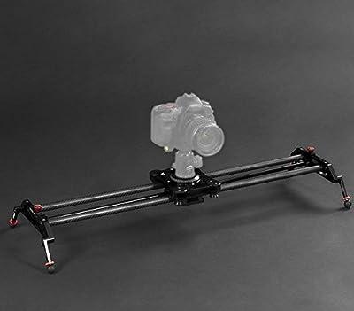 GOWE 80cm Carbon Fiber Portable Video Stabilizer DSLR Camera Following Shot Track Slider for DSLR Camera Camcorder DV Load 8Kg