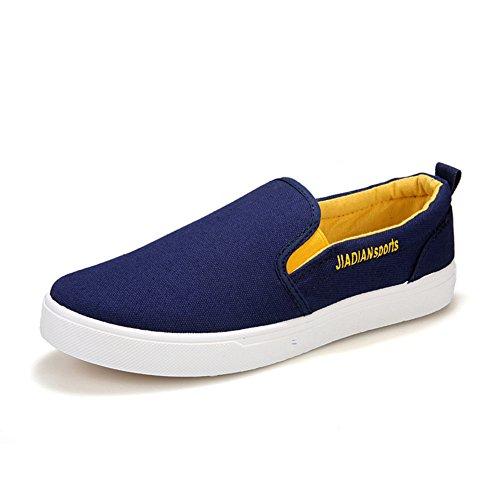 Verano establece pie zapatos/Zapatos de marea baja/Zapatos de hombre cómodo y respirable Azul
