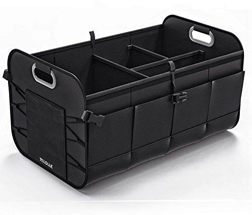 Miolle Trunk Organizer for car - Trunk Storage Organizer - Car SUV Van Cargo Storage Organizer - Auto Truck Organizers - Collapsible Organizer for Small and Large Cars (Medium)