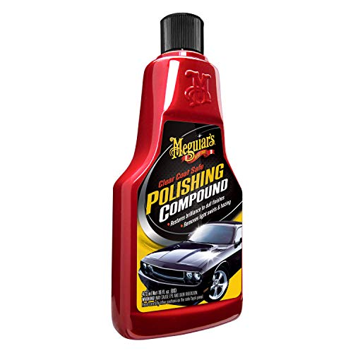 - Meguiar's Clear Coat Safe Polishing Compound - Remove Light Swirls and Restore Gloss - G18116, 16 oz