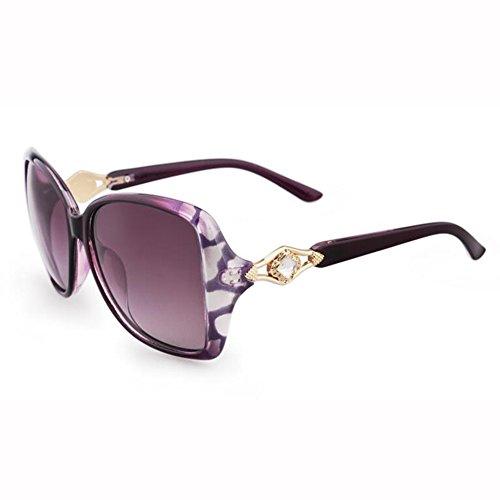 Anti xin Sol Street Color Gafas 3 Retro Cara Hembra Polarizador Gafas De Redonda Moda Beat WX Viaje 2 UV wtd1zqt
