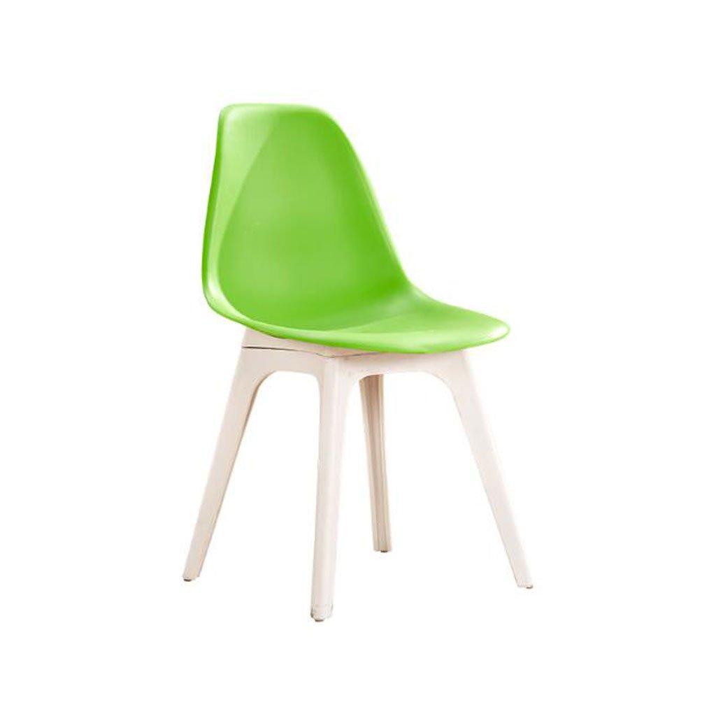 TXXM® 椅子背もたれ家庭用コンピュータ椅子創造性現代シンプルプラスチックスツール大人用レストランダイニングチェア (Color : A) B07SMRC75H A