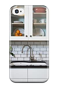 [DPnRZNy591nRwcp] - New White Modern Kitchen With Subway Tile And Quartz Countertop Protective Iphone 4/4s Classic Hardshell Case