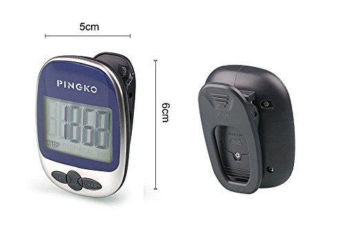 PINGKO Outdoor Multi function Portable Sport Pedometer Step/distance/calories/ Counter Blue