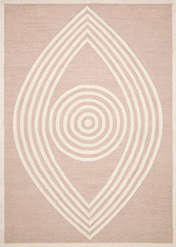 Now House by Jonathan Adler Wink Collection Area Rug, 5' x 7', Blush (Graphic Rose Rug)
