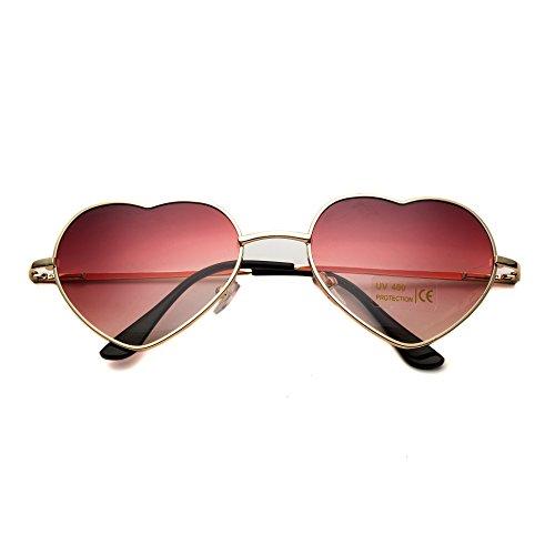 bce87ecd84cc style Cadre Gradient Gold Lunettes en de Rose mince de Frame pour métal en  Dollger Red ...