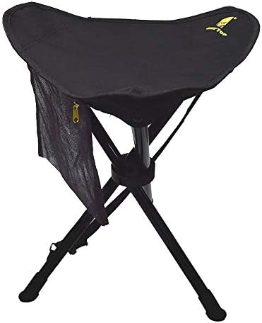 GEERTOP Portable Folding Seats Camping Tripod Stool Lightweight Tri-Leg Slacker Chair