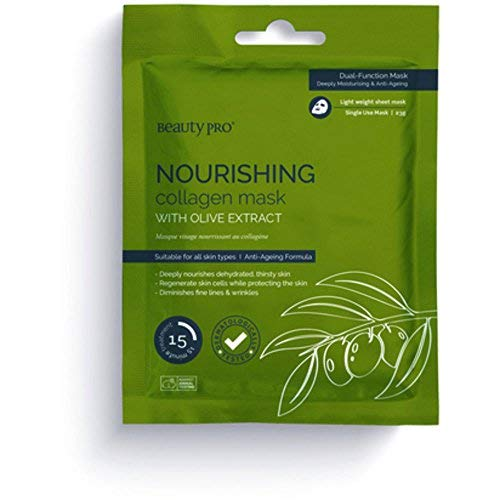 Beauty Pro Nourishing Collagen Sheet Mask with Olive Extract 23 Grams ()