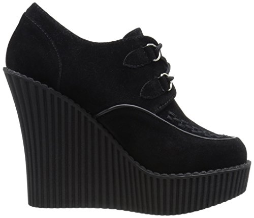 Demonia Womens Cre302 / Bvs Mode Sneaker Svart Vegan Mocka