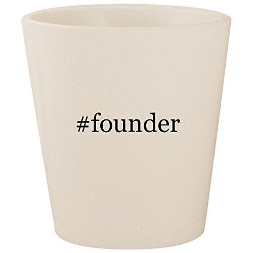 #founder - White Hashtag Ceramic 1.5oz Shot (Reserve Wine Club)