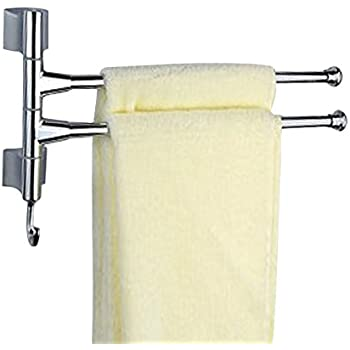 Charmant Agile Shop Wall Mounted Bathroom Kitchen Towel Rack Holder   2 Swing Arms,