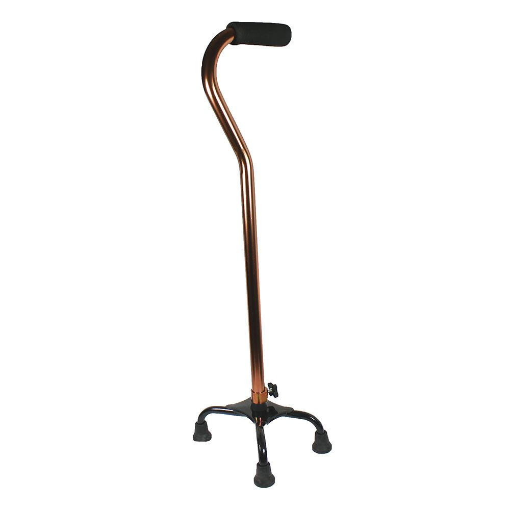 Quad cane small base bariatric 500lbs walking aid medical mobility adjustable