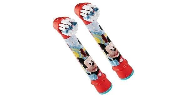Oral-B Stages Power - Juego de 2 cabezales para cepillo eléctrico, diseño de Mickey Mouse: Amazon.es: Salud y cuidado personal