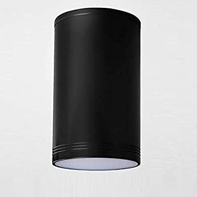 MASO HOME MS-61785 The Mini Size TUBE LED Ceiling Downlight Flush-Mount Ceiling Lamp Corridor Hallway Light (Black 7W Warm-Light)