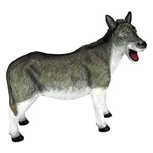 Case Pack Of 3 Laughing Donkey Statues