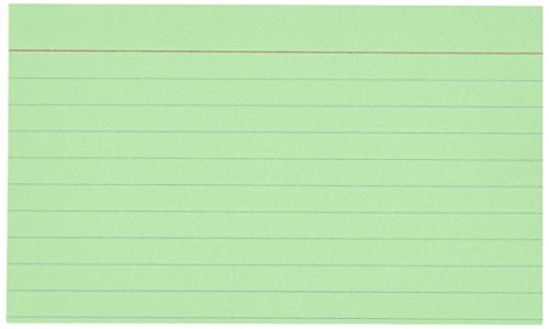 Esselte Oxford(R) Colored Recycled Index Cards, Ruled, 3i...