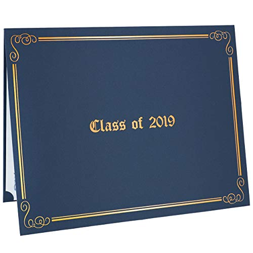 (Class of 2019 Diploma Covers 12-Pack Graduation Awards Certificates Holder 11 x 8.5 Inches (Blue with)