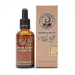 Olio per la barba Ricki Hall's Booze & Baccy confezione da 50 ml