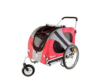DoggyRide Original Dog Stroller, Urban Red from Dutch Dog Design