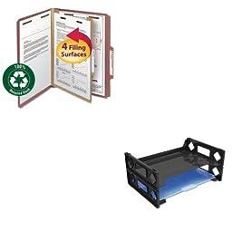 KITSMD13724UNV08100 - Value Kit - Smead Pressboard Classification Folder (SMD13724) and Universal Side Load Letter Desk Tray (UNV08100)