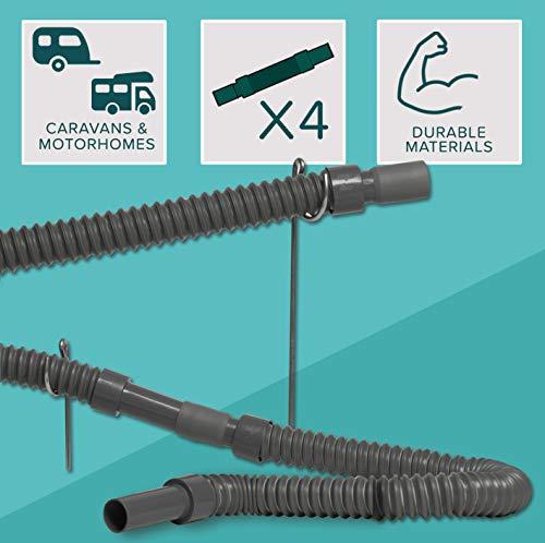 Colapz Wohnwagenzubehör Zusammenschiebbares, Flexibles und verlängerbares Abwasserrohrsystem für den Wohnwagen und das…